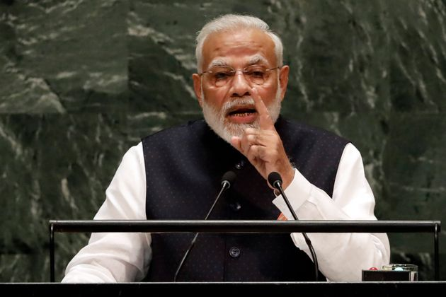 Prime Minister Narendra Modi addresses the 74th session of the United Nations General