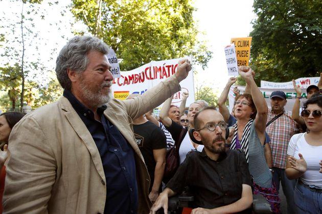 Juan López de Uralde y Pablo Echenique, en la