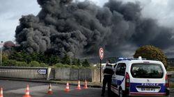 51 consultations, 5 hospitalisations après l'incendie de l'usine
