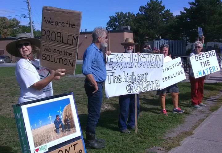 """""""We are the problem. We are the solution,"""" is protester Heather Ross' message at a climate strike in Picton, Ont."""