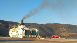 Ηγουμενίτσα: Πέντε τραυματίες από τη φωτιά στο πλοίο Olympic