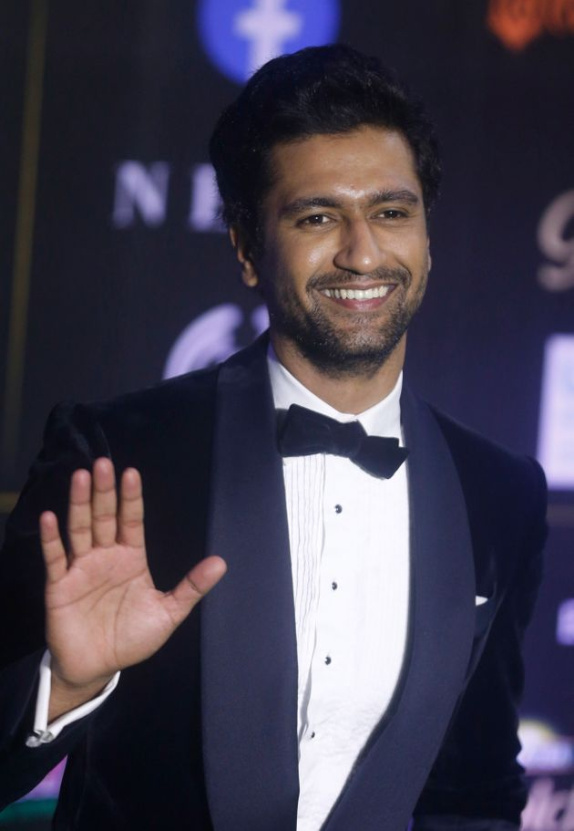 Bollywood actor Vicky Kaushal stands for photographs during the 20th International Indian Film Academy...