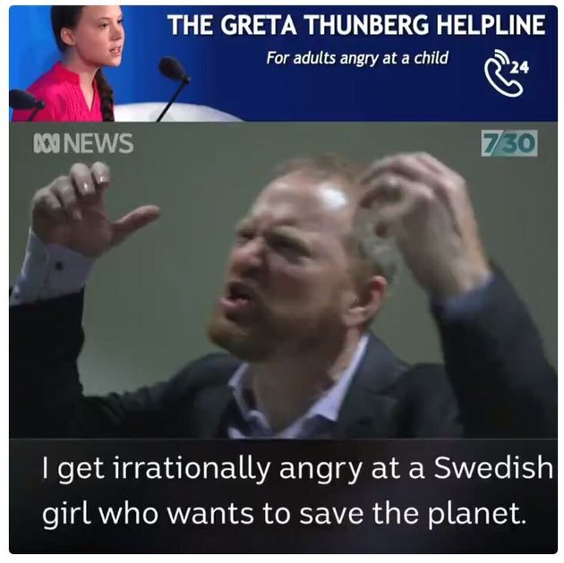 グレタさんに怒れる男性