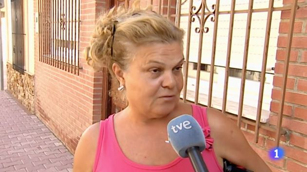 Vecina de Murcia afectada por las