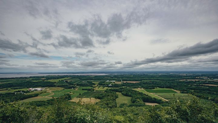 View from The Lookoff top of the North Mountain in Kings county, N.S.