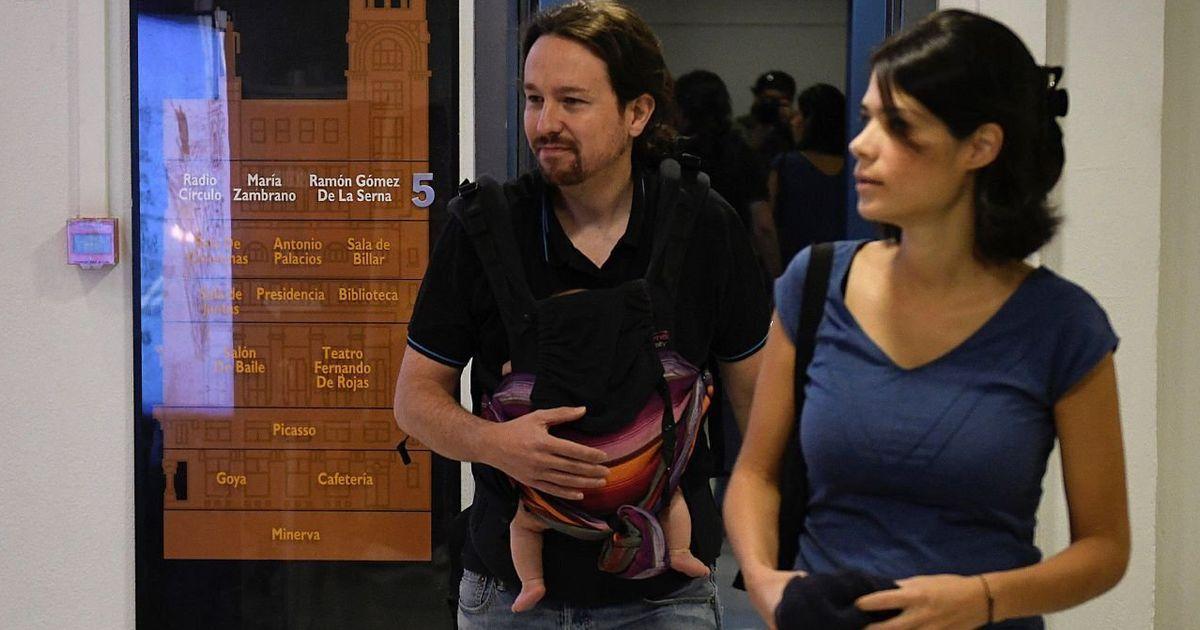 Bronca en 'LaSexta Noche' por esta imagen de Pablo Iglesias con su hija