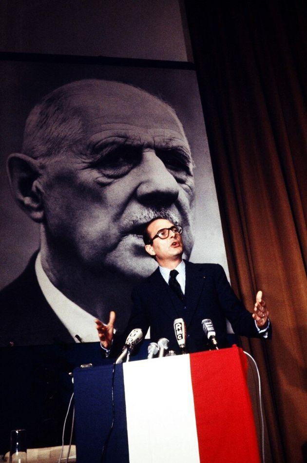 Jacques Chirac, à l'époque premier ministre et secrétaire général...