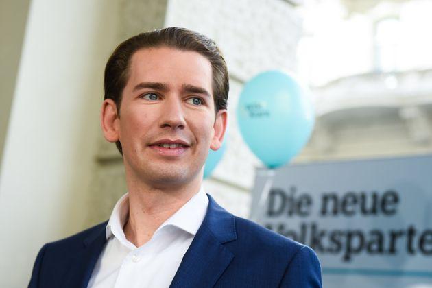 Sebastian Kurz, 33 ans, devrait selon toute vraisemblance sortir vainqueur des élections législatives...