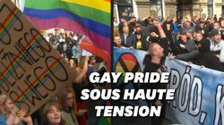 Slogans homophobes et cordons très serrés de policiers, la difficile gay pride de