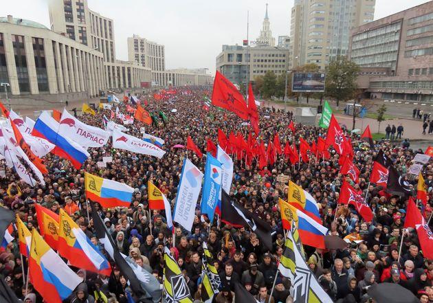 Ρωσία: Μαζικές πορείες με αίτημα την απελευθέρωση συλληφθέντων