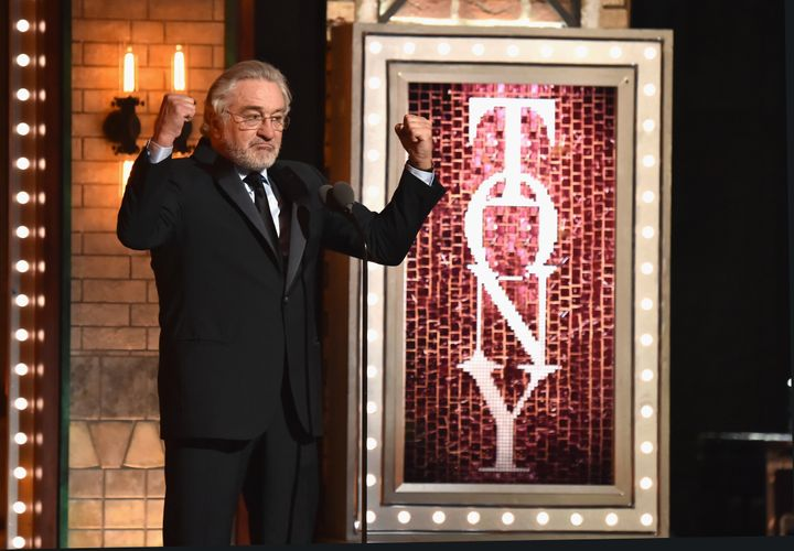 Robert De Niro criticized President Donald Trump during the 72nd Annual Tony Awards in New York.