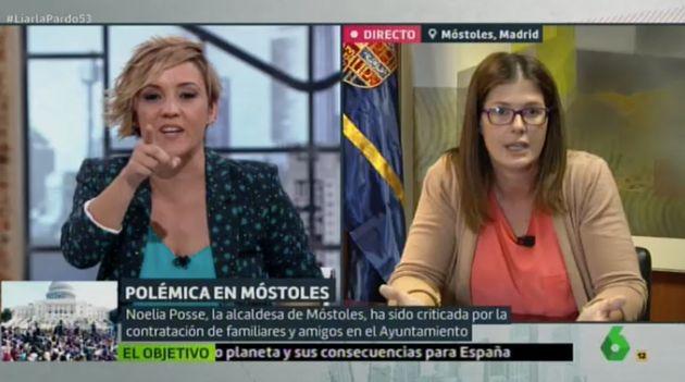 Cristina Pardo entrevista a la alcaldesa de Móstoles, Noelia Posse, en 'Liarla Pardo'