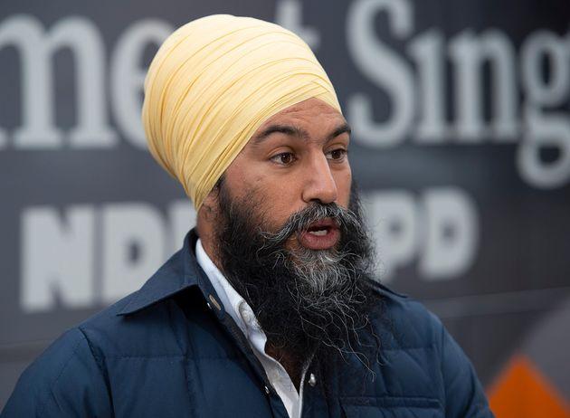 Le chef du NPD Jagmeet Singh à Burnaby, en Colombie-Britannique, le dimanche29 septembre