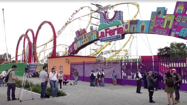 A general view of an amusement park where rollercoaster accident happened, in Mexico City, Mexico, September...