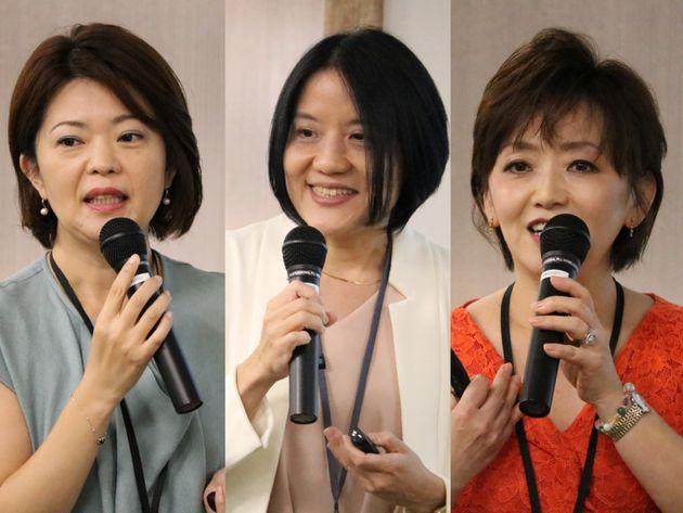左から、犬塚麻由香さん、原夏代さん、酒寄久美子さん