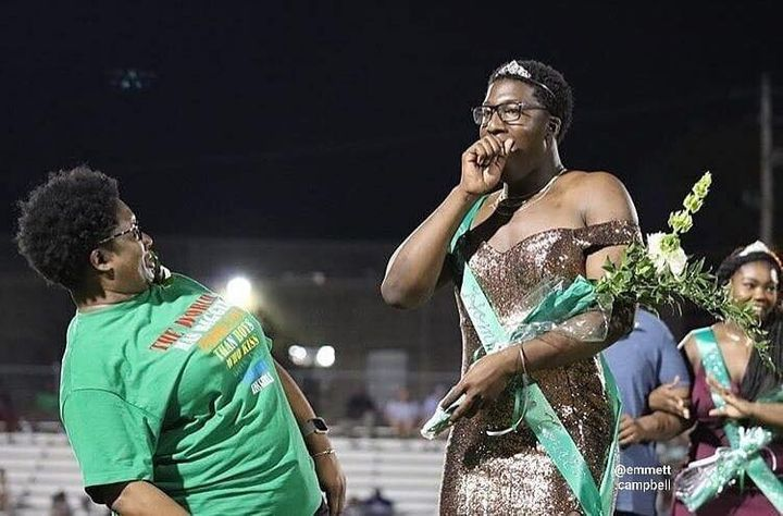 White Station High School student Brandon Allen was crowned Homecoming Royalty.