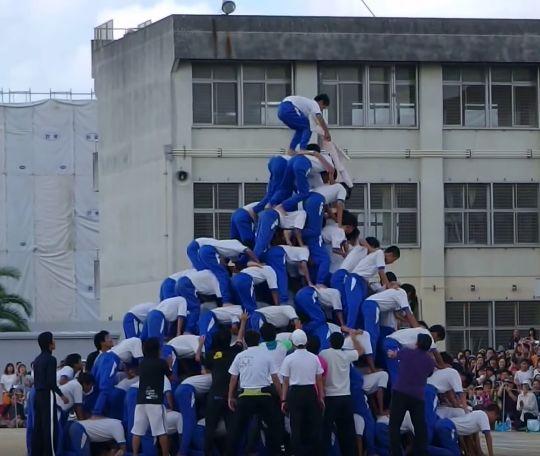 大中ピラミッド(大阪府八尾市立の中学校における組体操事故)