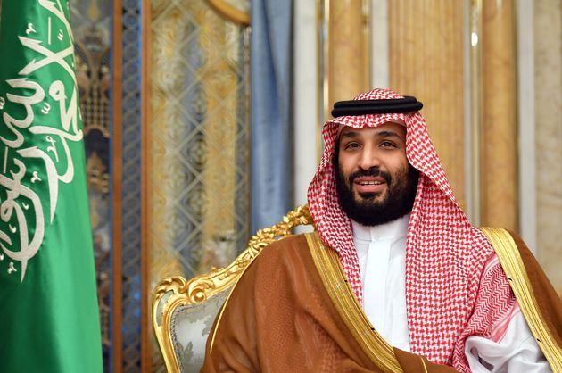 Saudi Arabia's Crown Prince Mohammed bin Salman attends a meeting with U.S. Secretary of State Mike Pompeo...