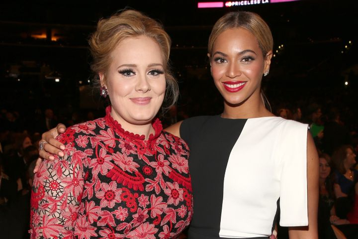 Adele and Beyoncé pictured in 2013