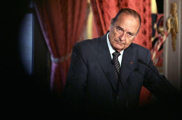Jacques Chirac à l'Elysée lors de ses vœux au corps diplomatique, le 5 janvier
