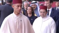 Obsèques de Chirac: Premières images de l'arrivée du prince héritier Moulay El Hassan à