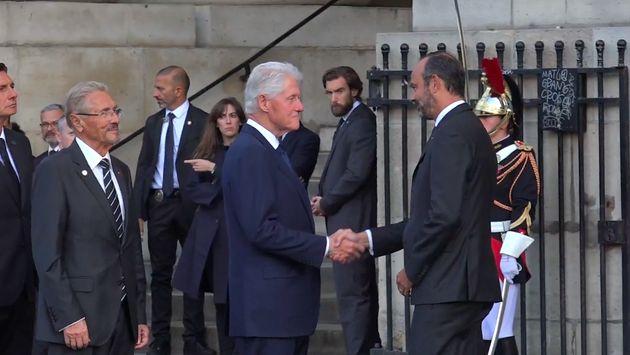 Bill Clinton, ancien président des Etats-Unis aux obsèques de Jacques Chirac à