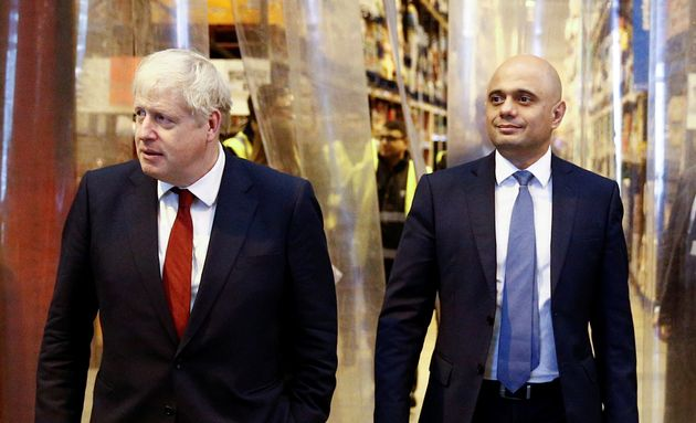 Prime Minister Boris Johnson (left) and the Chancellor of the Exchequer Sajid Javid during a visit to...