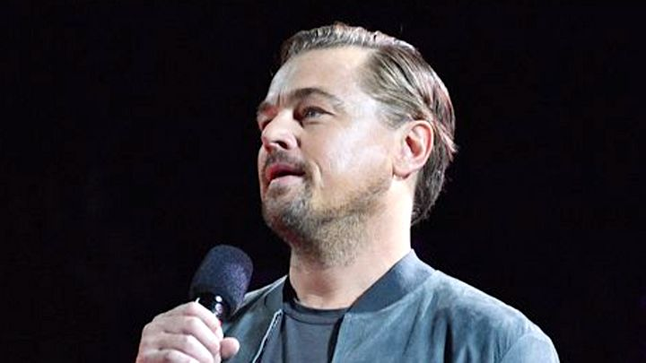 Leonardo DiCaprio spoke passionately at the Global Citizen Festival.