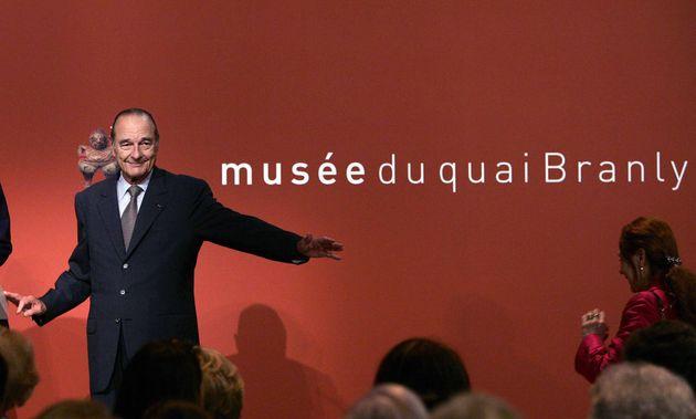 Jacques Chirac lors de l'inauguration du Musée du Quai Branly à Paris, le 20 juin