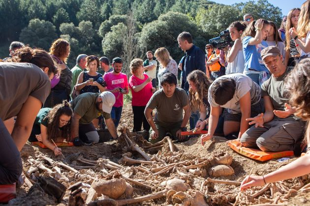 Imagen de la excavación, colgada en Facebook por la Sociedad de Ciencias