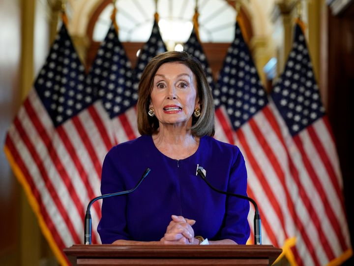 House Speaker Nancy Pelosi announces the House of Representatives will launch a formal inquiry to investigate whether to impeach U.S. President Donald Trump in Washington, DC on Sept. 24, 2019.