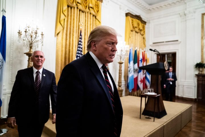 President Donald Trump and Vice President Mike Pence at the White House on Sept. 27, 2019 in Washington, DC.