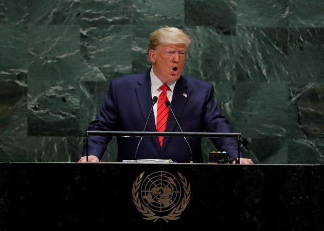 El presidente de EE.UU., Donald J. Trump, pronuncia su discurso durante 74 Asamblea General de Naciones...