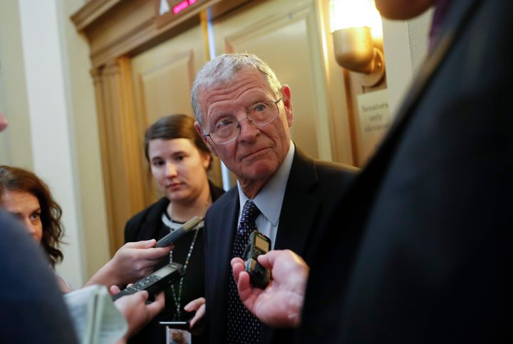 "Sen. James Inhofe said it's a ""tough question"" on whether Trump pressuring the Ukrainian president to investigate Joe Biden d"