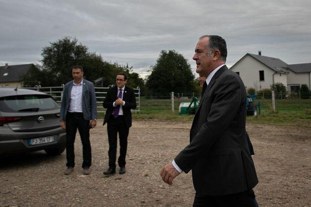 Les agriculteurs affectés par l'incendie de Lubrizol seront indemnisés affirme Didier Guillaume, ici...