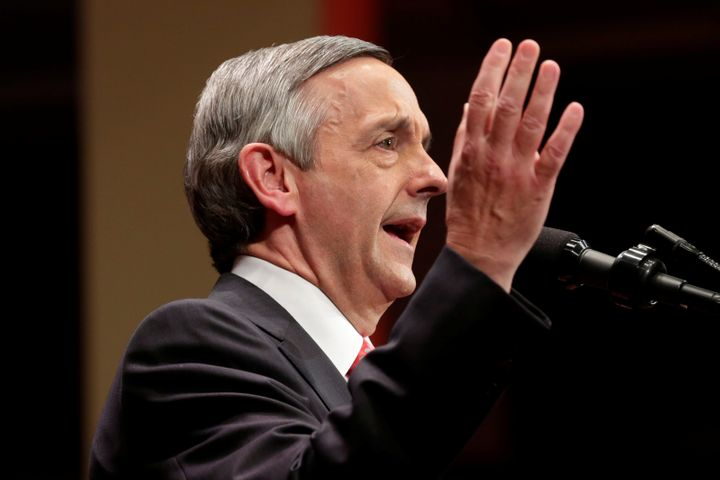 Pastor Robert Jeffress leads First Baptist Dallas, a megachurch in Texas.