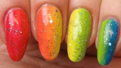 Show Your Pride With This Rainbow Ombré Nail