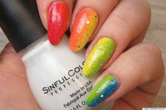 Nail Art: An Easy Rainbow Ombré Design For Pride