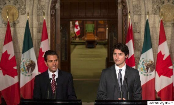 Trudeau Discusses Deaths Of Protesting Mexican Teachers At Presser With Enrique Pena