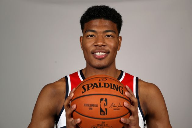 WASHINGTON, DC - SEPTEMBER 30: Rui Hachimura #8 of the Washington Wizards poses during media day at Medstar...