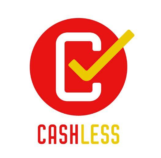 「キャッシュレス・消費者還元事業」の公式マーク。対象店舗で掲示される