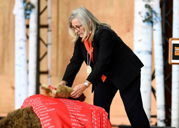 Marie Wilson during the Honouring National Day for Truth and Reconciliation ceremony in Gatineau, Que.,...