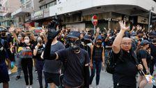 Ribuan Demonstran Pro-Demokrasi Banjir jalan-Jalan Hong Kong Pada Hari Nasional Cina