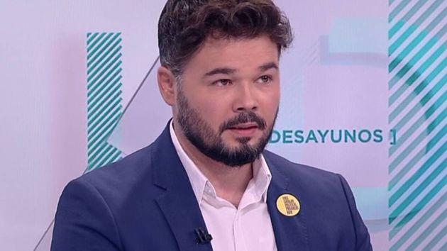 El portavoz de ERC, Gabriel Rufián, en Los