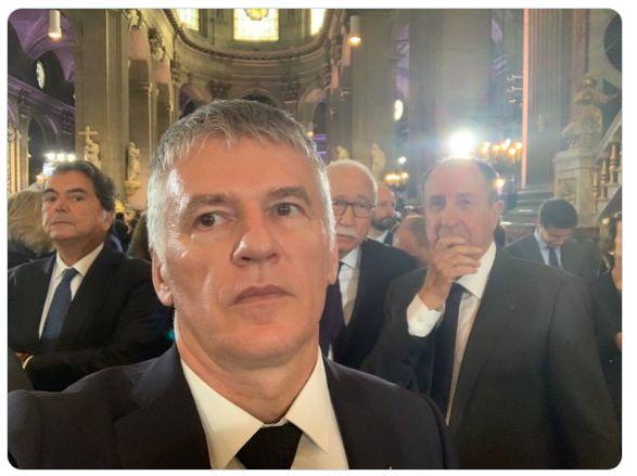 Photo publiée sur par Philippe Folliot lors des obsèques de Jacques
