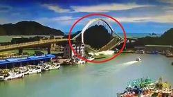 Il ponte si sbriciola sui pescherecci: 14 feriti a Taiwan