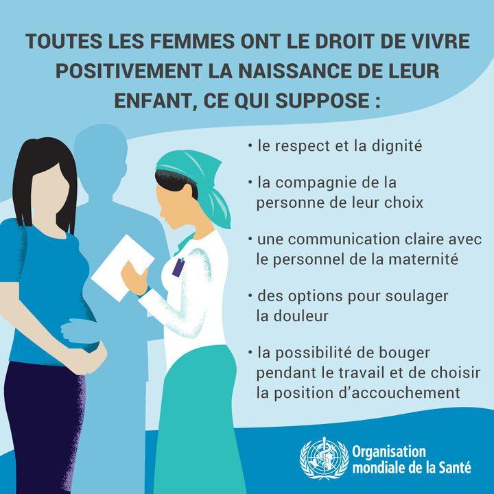Les conseils de l'OMS en matière d'accouchement