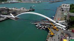 Les images glaçantes d'un pont qui s'effondre à Taïwan, plusieurs personnes