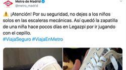 Esta foto de Metro de Madrid hará que vayas con mucho cuidado en las escaleras