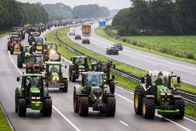 Manifestation d'agriculteurs en tracteurs à La Haye, 1er octobre 2019,
